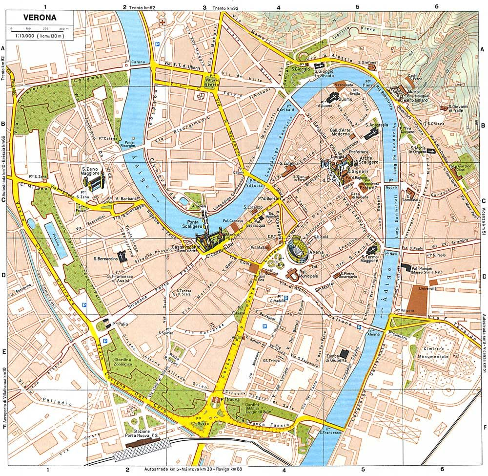 Verona Tourist Map Italy Ciao Bella Verona Italy Verona Map