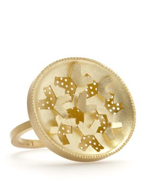 Christel van der Laan - reflex ring, 18ct gold