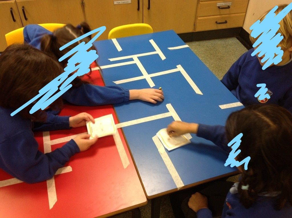 maths numeracy direction and position pirate table mazes on the table and the children had. Black Bedroom Furniture Sets. Home Design Ideas