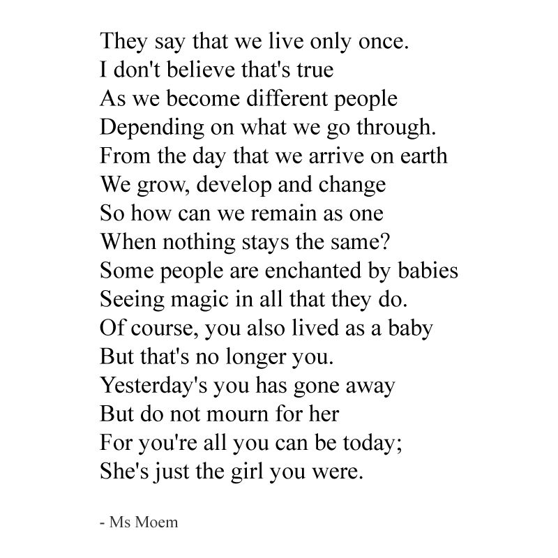 We Live More Than Once ~ a short poem about life and change by Ms ...