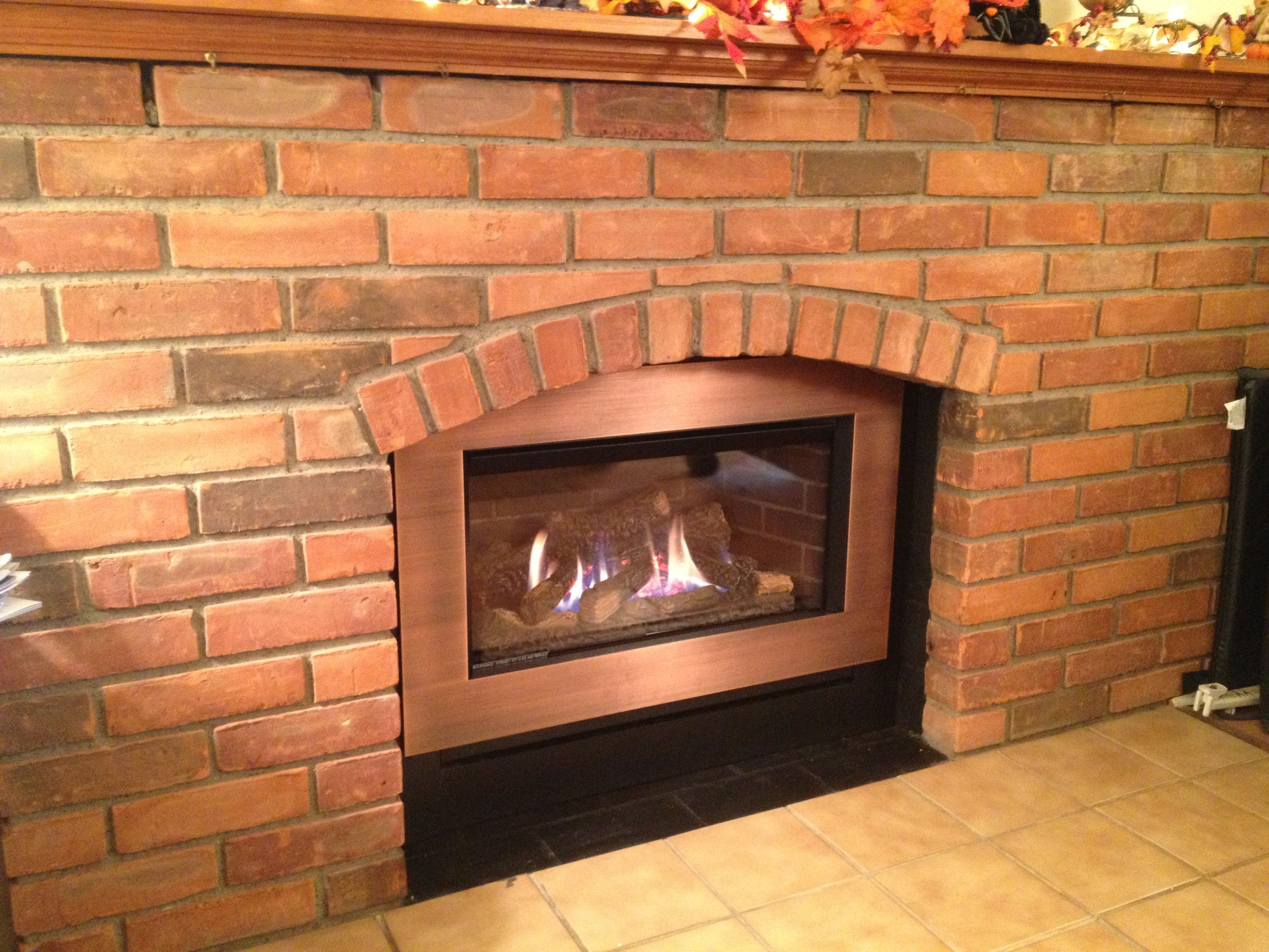 valor g3 785jln gas insert in arched brick fireplace valor