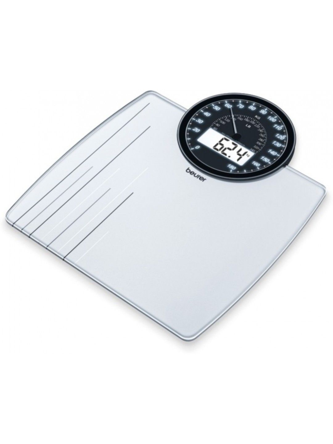 Beurer Analogue Digital Dual Display Weighing Scale Buy Online - Large display digital bathroom scales for bathroom decor ideas