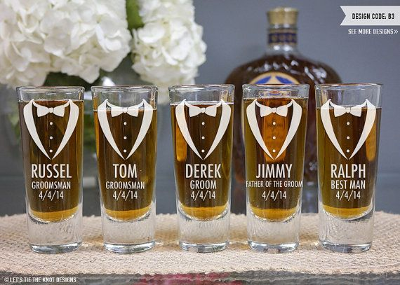 Engraved Wedding Party Gifts: Personalized Groomsmen Shot Glass
