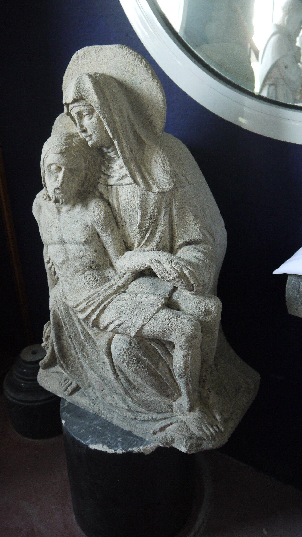 Madonna and Child limestone sculpture c 1490 France Madonnas