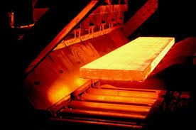red hot steel slab
