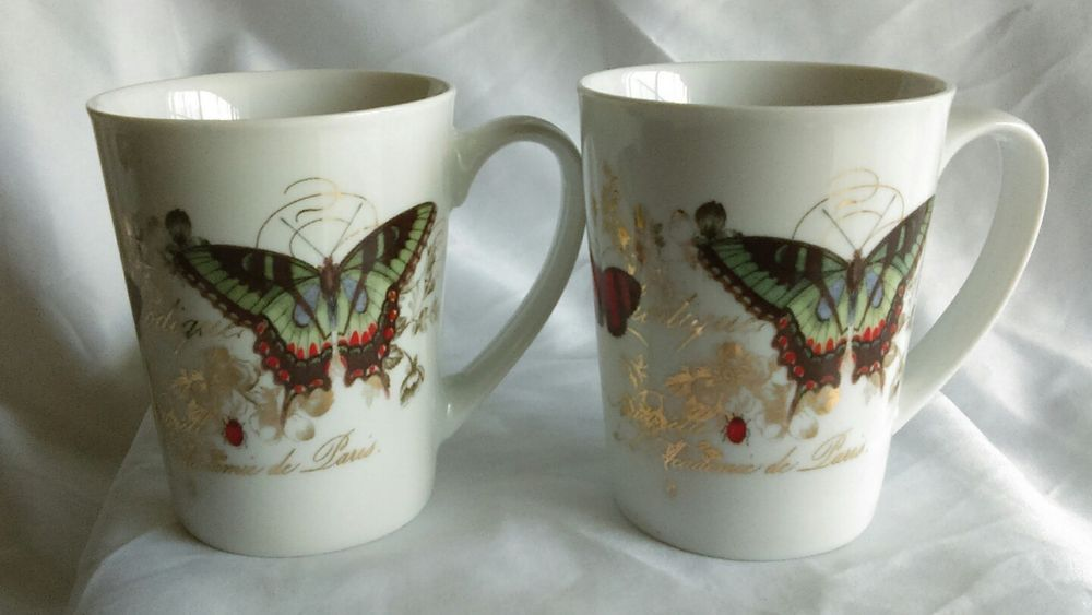 Porcelain Cup For Coffee Mug Tea Studio Barns Fringe Butterfly 7gyb6f