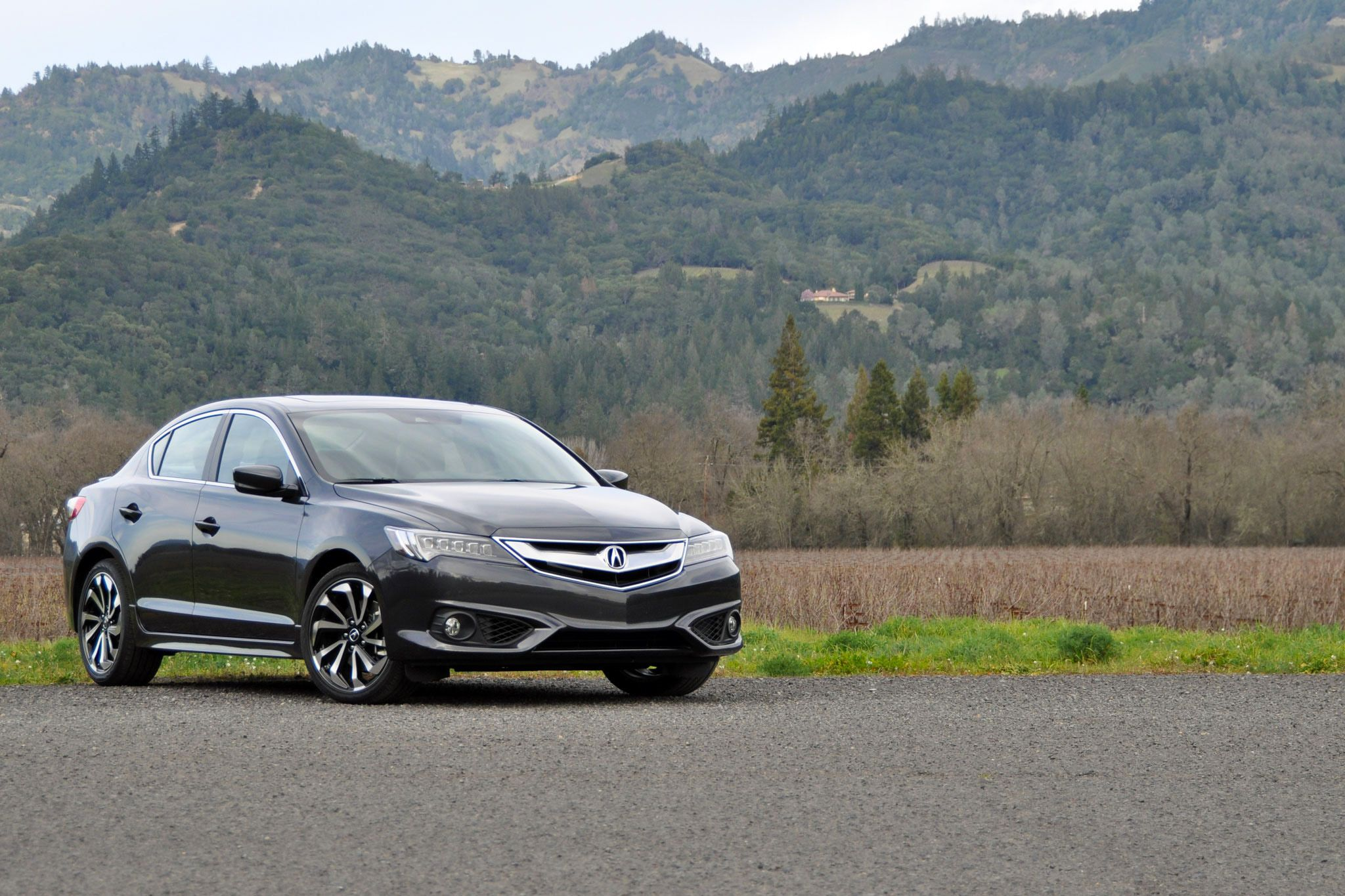 Graphite 2016 Acura ILX Parked by the Mountain Side