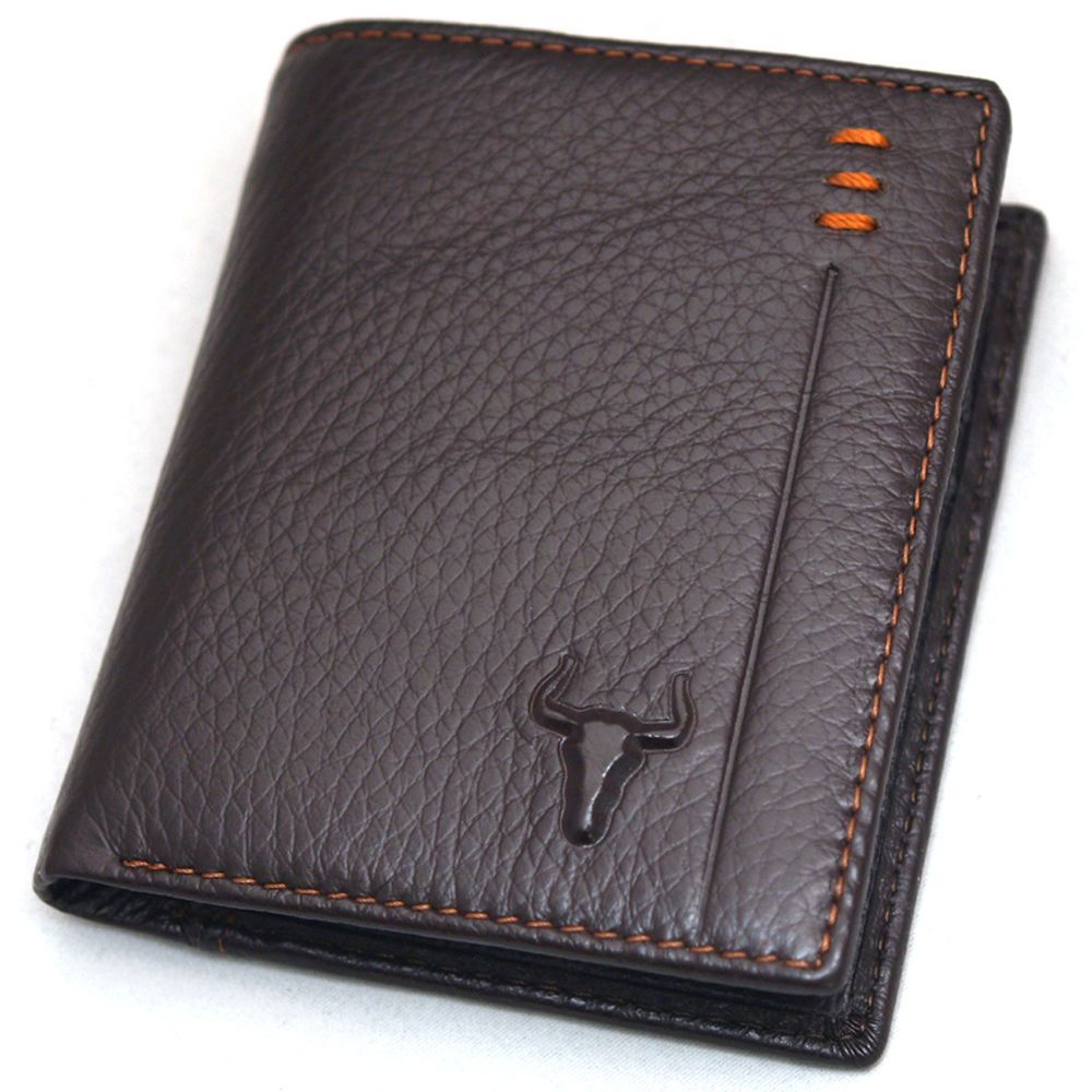 Leather Mens Wallet Credit Card Zippered Pocket ID Photo Holder Brown F5017A | Clothing, Shoes & Accessories, Men's Accessories, Wallets | eBay!