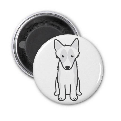 Shetland Sheepdog Dog Cartoon Refrigerator Magnet
