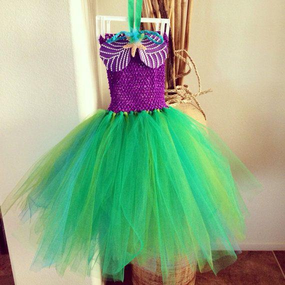Little Mermaid Tutu Dress by ArisBeautique on Etsy, $35.00
