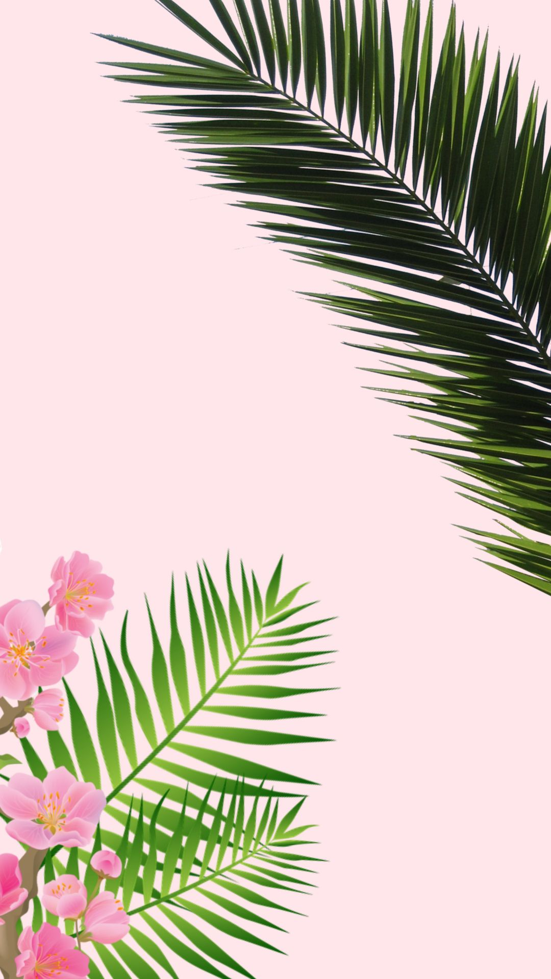 Tropical Wallpaper Iphone Background Pink Vintage Pastel Wallpaper Iphone Kertas Dinding Tropis