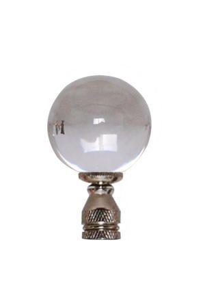 Crystal Ball Finial On Silver Base Lamp Finial Diy Lighting Lamp
