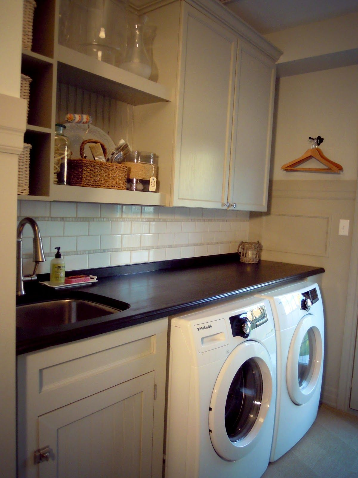 Just beachy pleted laundry room
