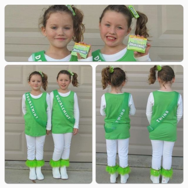 @Diana Hodges we can do an adult version of this! Halloween Costume Doublemint  sc 1 st  Pinterest & Diana Hodges we can do an adult version of this! Halloween Costume ...