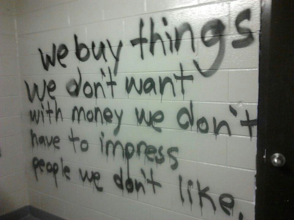 graffiti, grunge, indie, tumblr, dark pale, dave ramsey quote | quotes
