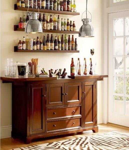 Inspirational Bar Shelf for Home