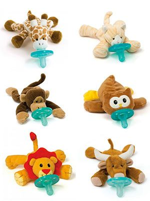 A Pacifier With A Stuffed Animal Attached Baby Stuff