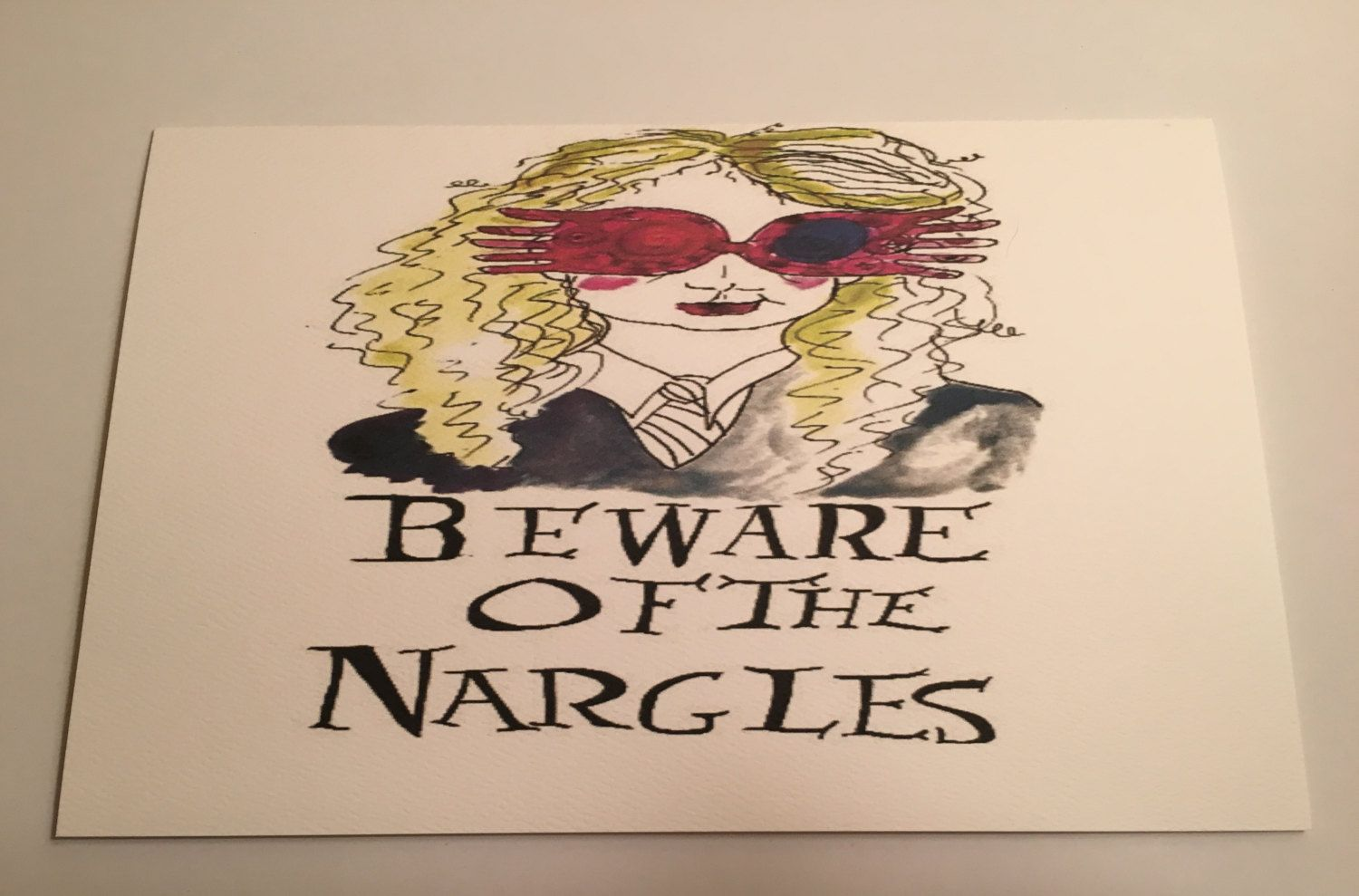 Luna Lovegood Inspired Greeting Card Beware Of The Nargles All