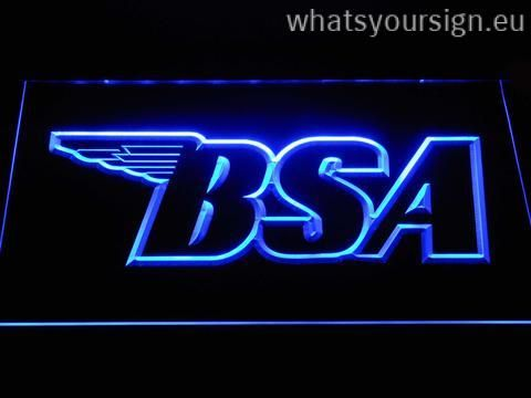 BSA Outline LED neon light sign made of the first class quality