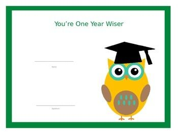 YouRe One Year Wiser Primary Graduation Certificates Free Pdf
