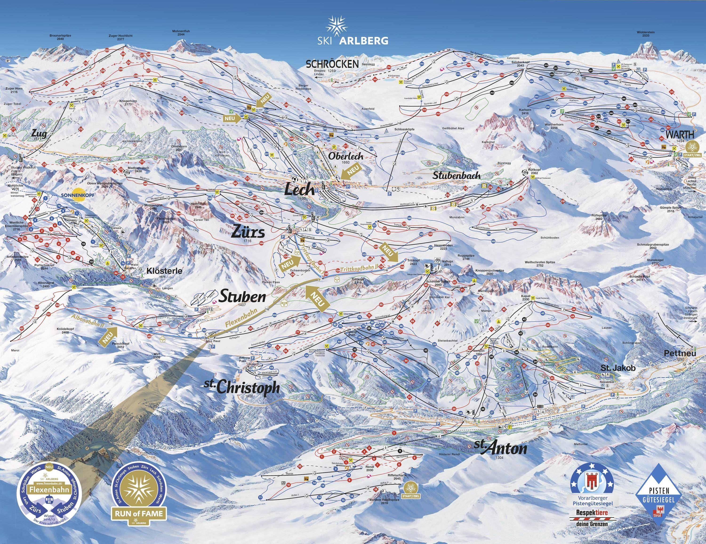 Ski Arlberg 2016 2017 piste map Winter Adventures