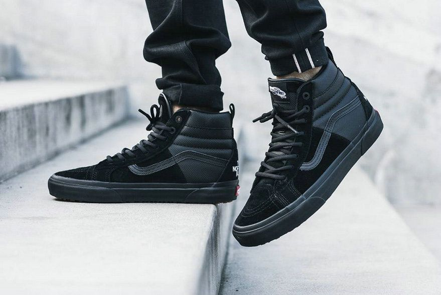 The North Face x Vans SK8-Hi MTE 2017 Black MY22 Skateboard Shoes ...