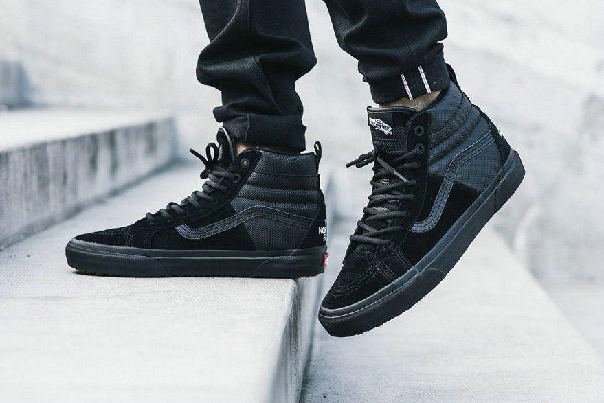 The North Face X Vans Sk8 Hi Mte Black All My22 Vans For Sale Vans Fresh Shoes Vans Best Sneakers