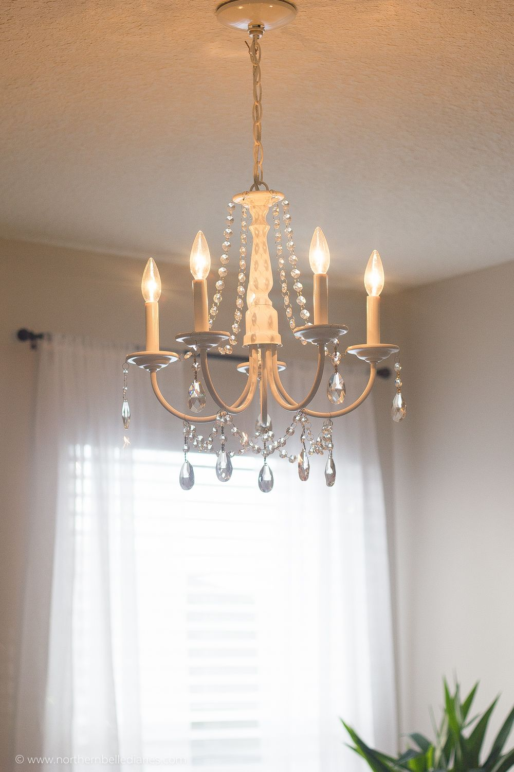 DIY Crystal Chandelier Easy Tutorial Pinterest Chandeliers - Chandelier crystals diy
