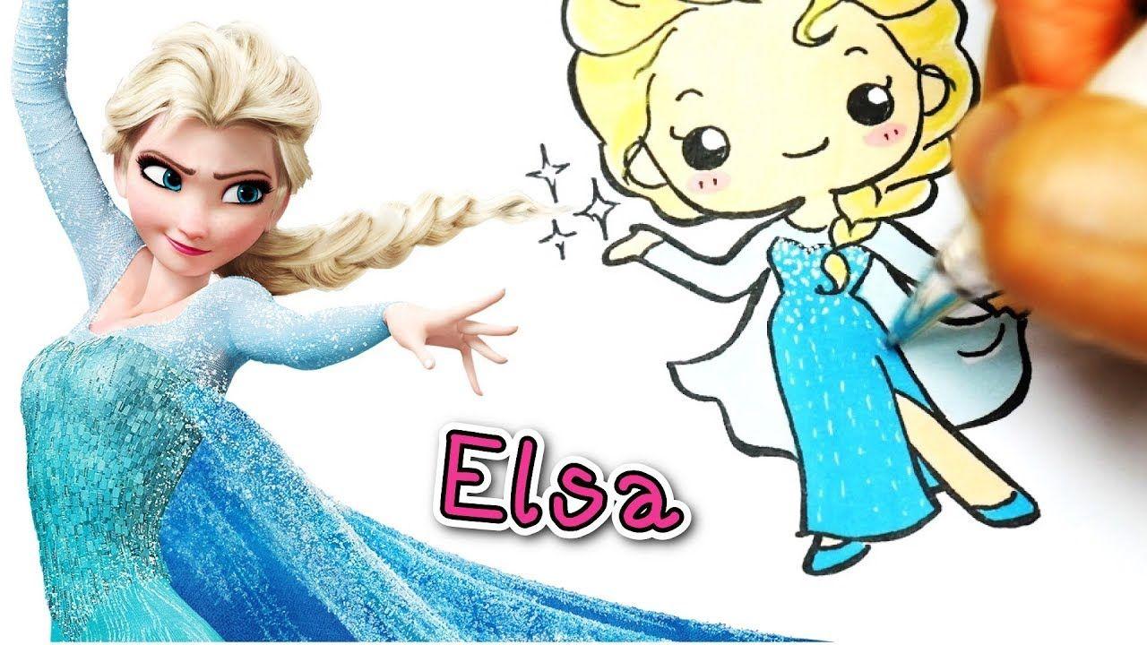 Ep 3 Queen Elsa ราช น เอลซ า Easy Draw Disney Princess แจกภาพร เจ าหญ งด สน ย ด สน ย สอนวาดร ป