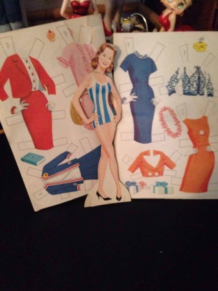 Vintage Uncut Lennon Sisters Paper Dolls W/ One Of Cardboard Doll--Peggy!