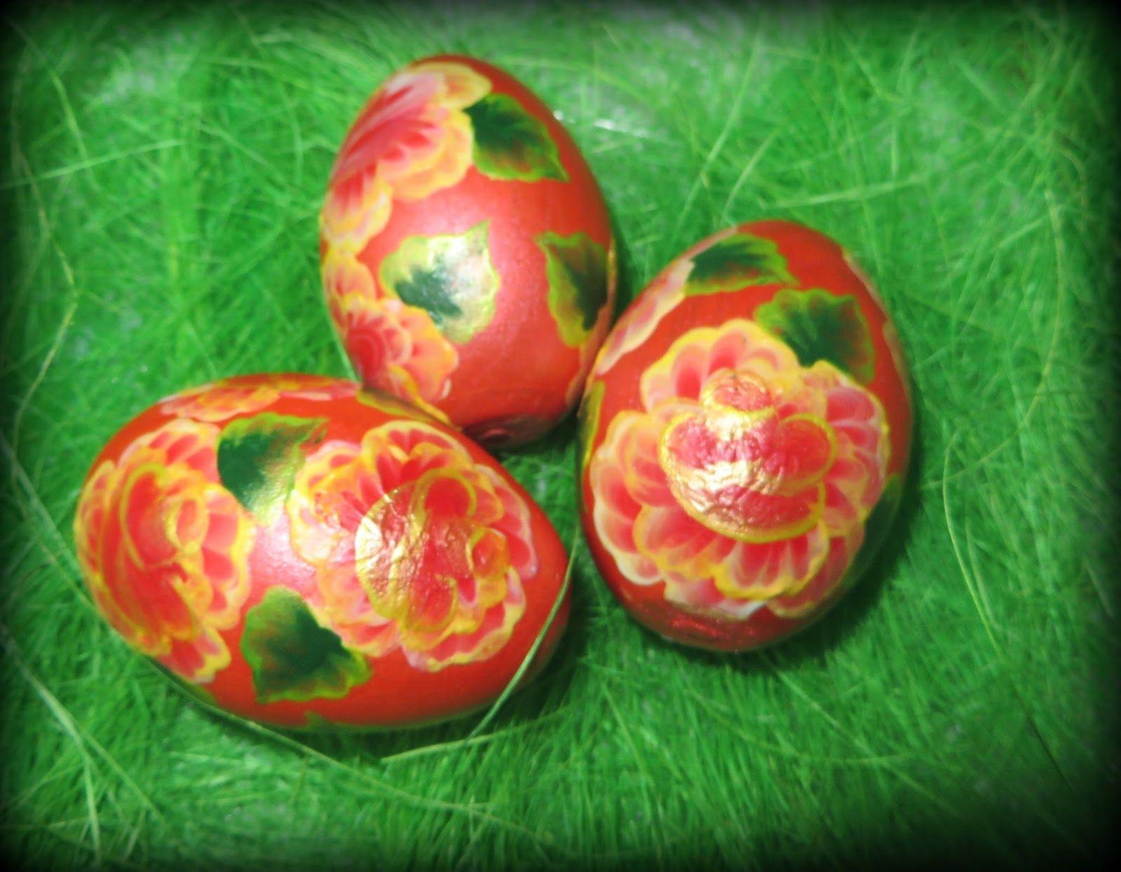 Pisanki One Stroke Easter Eggs One Stroke Farby Akrylowe