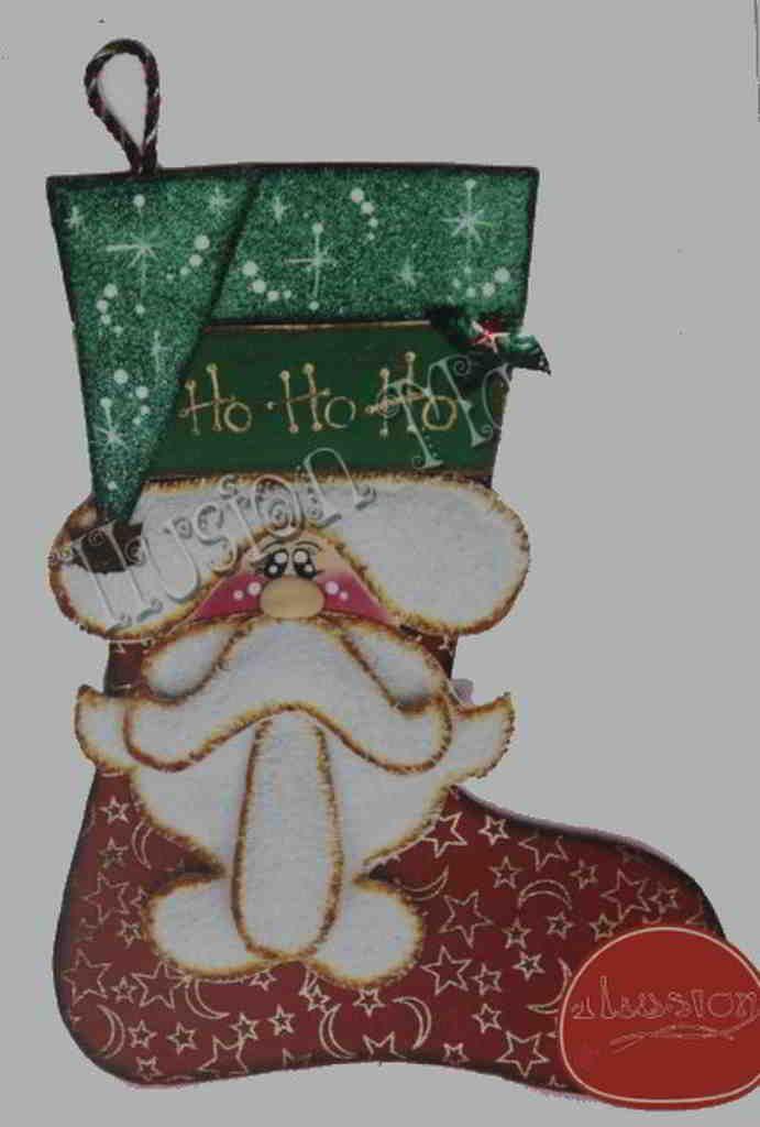 Molde Bota Navideña Santa