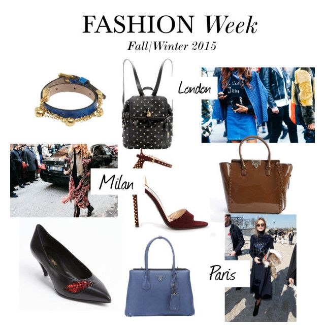 """""""Fashion Week Picks"""" by bluefly ❤ liked on Polyvore featuring Alexander McQueen, Yves Saint Laurent, Prada and Valentino"""