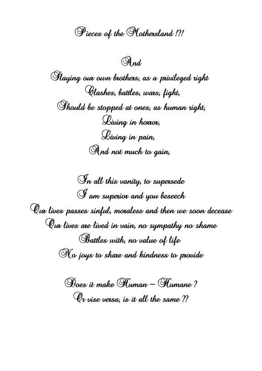 my nation my pride poem in english