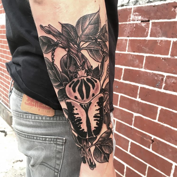 Goliath beetle by Amanda Rodriguez Tattoo artists