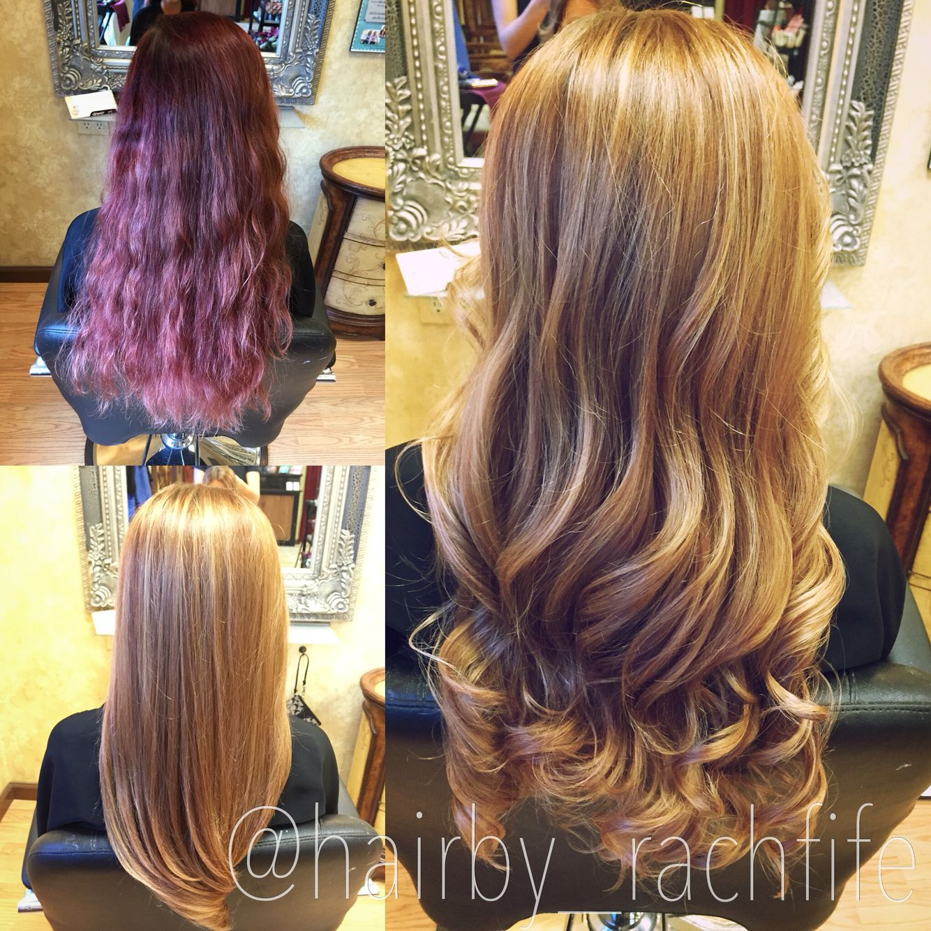 Color Correction Red To Blonde Hair By Rachel Fife Sf Salon