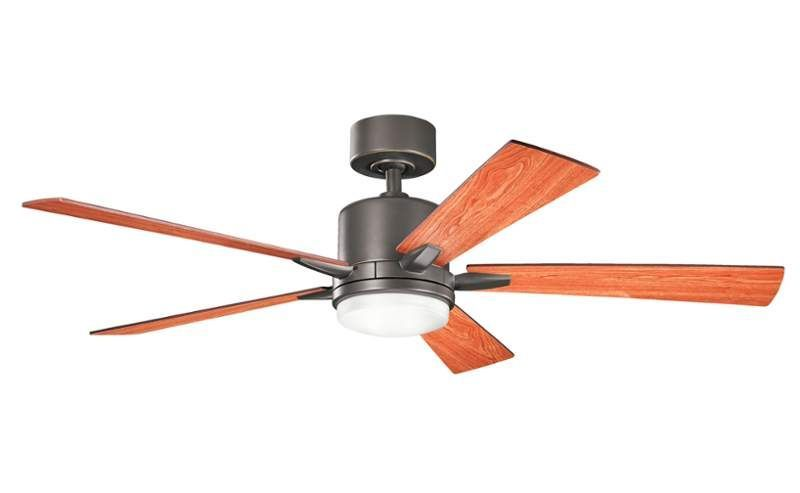 """Kichler 300176 52"""" Indoor Ceiling Fan with Blades Light Kit Downrod and Remote Olde Bronze Fans Ceiling Fans Indoor Ceiling Fans"""