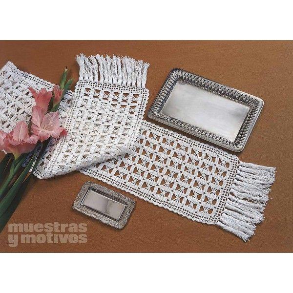 Bonito camino de mesa tejido a crochet manteles y for Camino de mesa a crochet