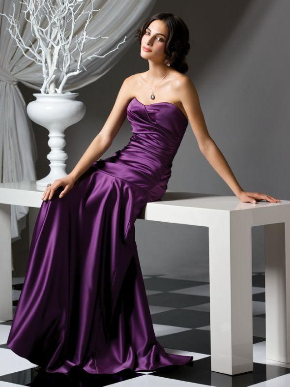 Show Me Your Dark Purple Bm Dresses Satin Bridesmaid Dresses