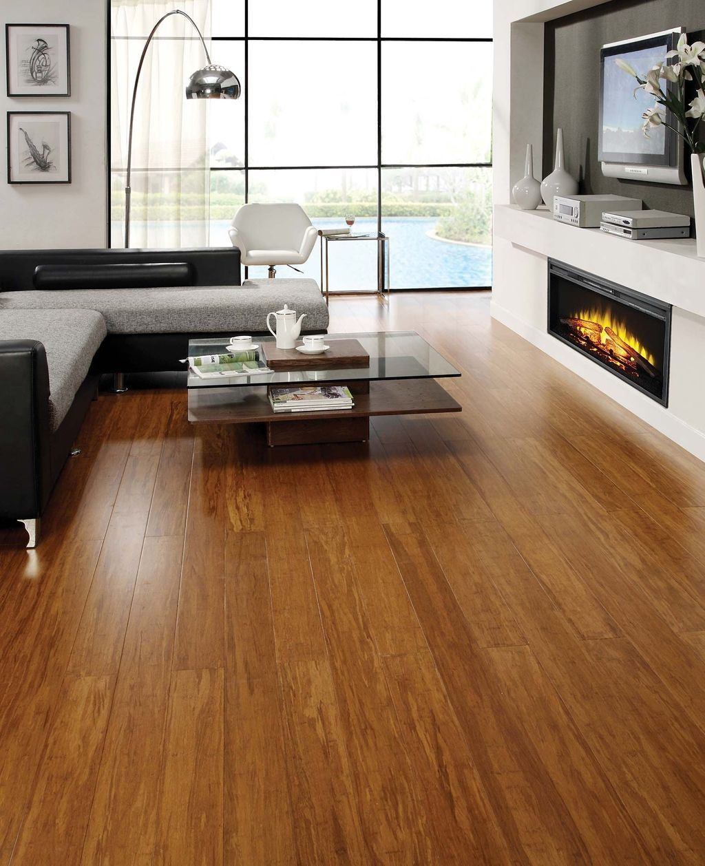 48 Comfy Wooden Tiles Design Ideas For Living Room Floor Design