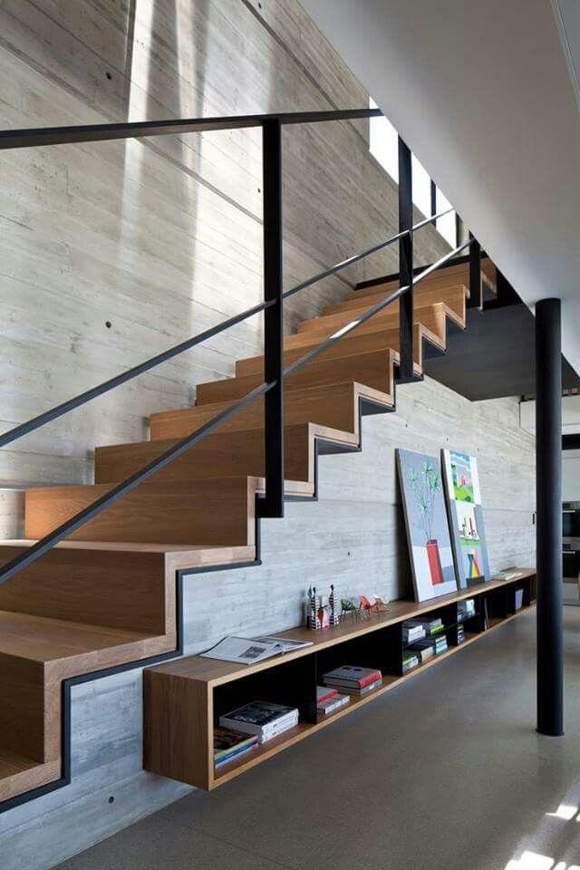 Betonholz casaPEUMAHUE Pinterest Escalera, Interiores y - diseo de escaleras interiores
