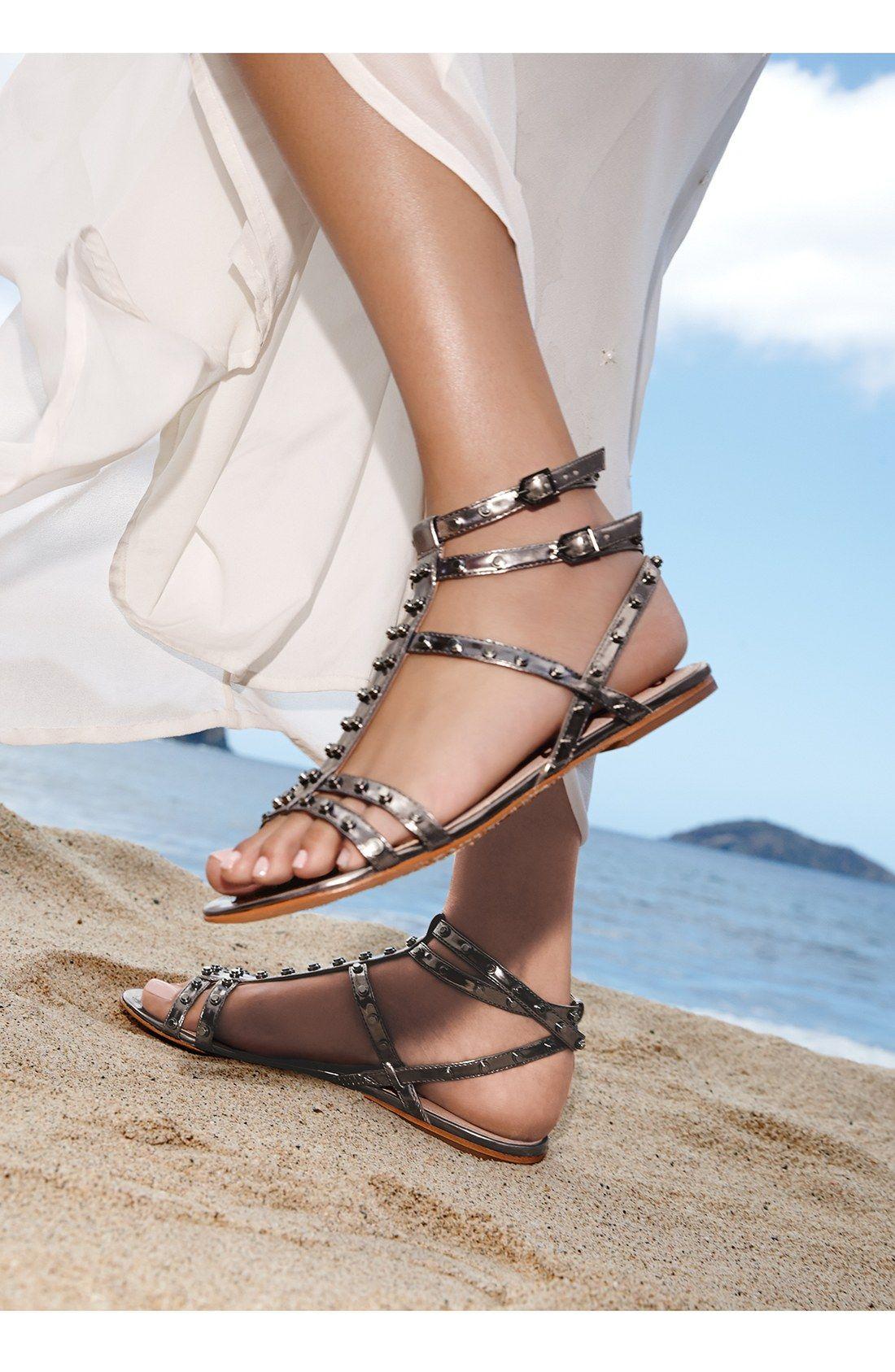 780b3e58243 Glam Sam Edelman sandals for the beach.