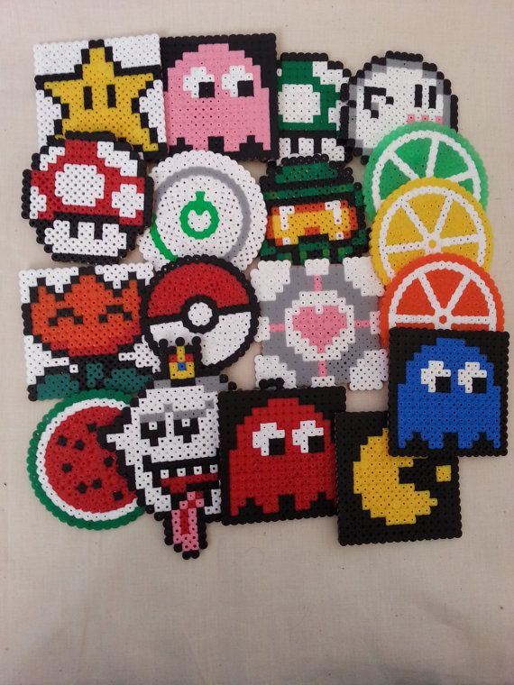 Choose Your Own Hama Perler Bead Magnet Video Game Designs And Others Bead Art Video Game Art Retro Game Art On Etsy Bead Art Perler Bead Art Geeky Craft