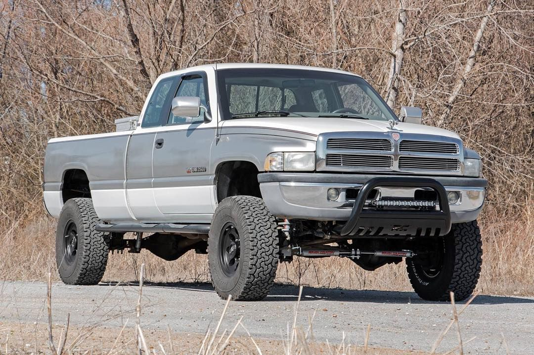1996 Dodge Ram 2500 With A 3 Rough Country Lift On 315 75 R16 S Rcshopbuild Lift Kits Ram 2500 Dodge Ram 2500 Cummins