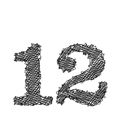 12 number graphic