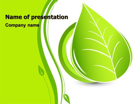 Tender Green Spring Leaf Powerpoint Template  Ppt Template