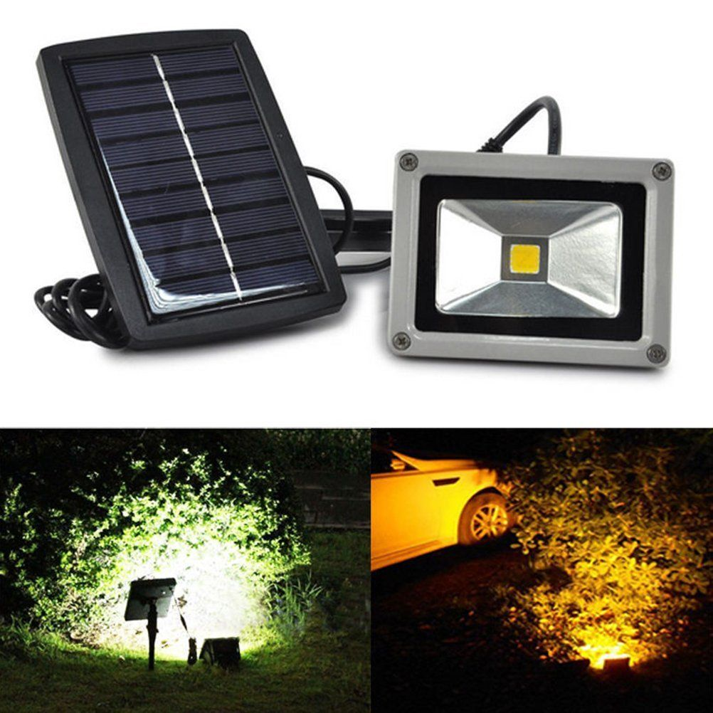 Amazon Com Wsmy 10w Solar Power Led Flood Night Light Garden Spotlight Lawn Waterp Solar Powered Garden Lights Outdoor Flood Lights Solar Spot Lights Outdoor