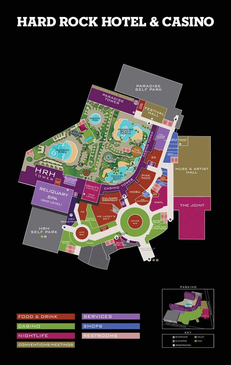 Property Map Hard Rock Hotel and Casino Las Vegas Vegas