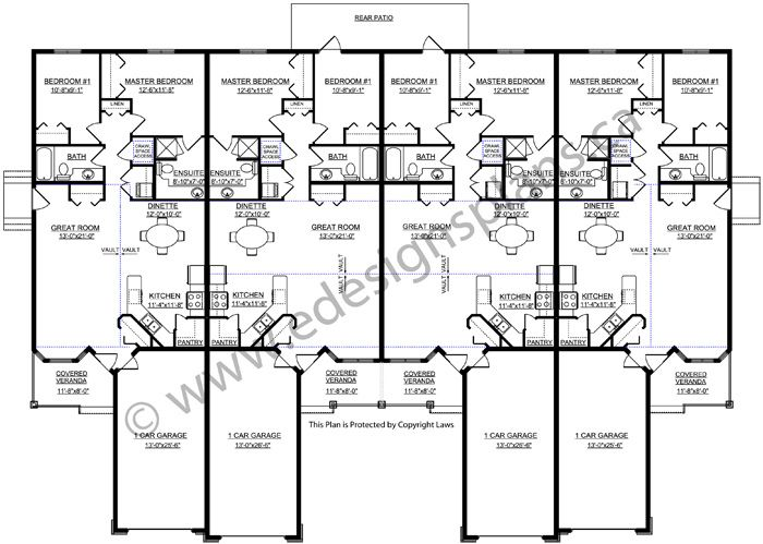 4 plex plan 2011583 by house plans for Edesign plans