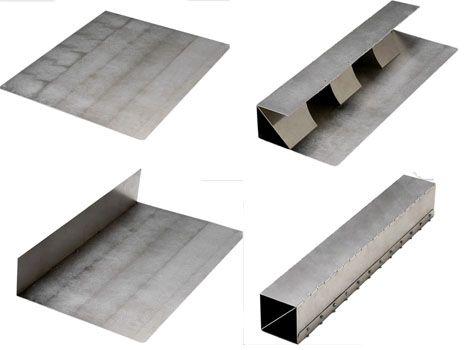 metal origami flatpack sheets form superstrong shapes